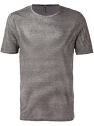 Transit Striped T Shirt Grey