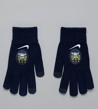Nike Manchester City Gloves Navy