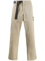Off White Loose Fit Cargo Trousers Neutrals