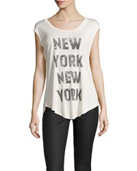 Haute Hippie New York Split Back Muscle Tee Swan Black
