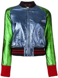 Gucci Colour Block Bomber Jacket