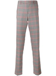 Paul Smith Checked Chinos Men Cotton Polyester Wool 36 Red