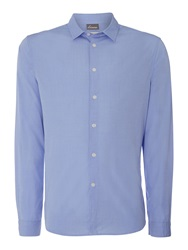 Linea Triking Plain Chambray Long Sleeve Shirt Light Blue