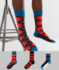 Happy Socks Hs By 3 Pack Multi