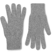 William Lockie Cashmere Gloves Gray
