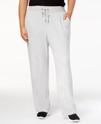 Ideology Plus Size Drawstring Sweatpants Created For Macy's Heather Grey