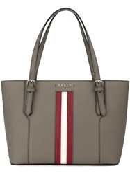 Bally Stripe Detail Tote Grey