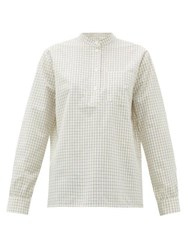 A.P.C. Amandine Checked Cotton Poplin Shirt White Multi