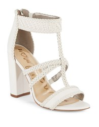 Sam Edelman Leather Yordana T Strap Sandals White