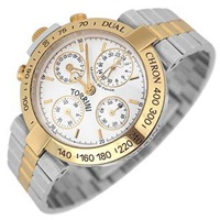 Torrini Dualchron Midas Dual Time Steel And Gold Chronograph Watch