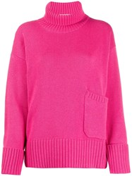Lamberto Losani Patch Pocket Sweater Pink