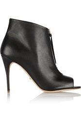 Jerome C. Rousseau Zumback Leather Ankle Boots Black