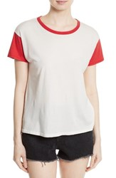 Rag And Bone Women's Jean Colorblock Vintage Cotton Tee