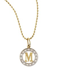 White Diamond Framed Initial Charm Kacey K B