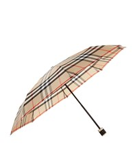 Burberry Shoes And Accessories Check Folding Umbrella Female Camel