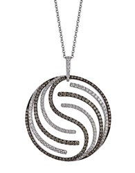 Le Vian Diamond Chocolate Diamond And 14K White Gold Pendant Necklace 2.95 Tcw