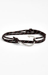 Men's Miansai Silver Hook Rope Bracelet Black Red