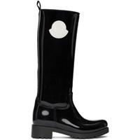 Moncler Black Rubber Ginger Tall Boots