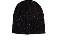 Alex Mill Men's Donegal Effect Chunky Rib Knit Cashmere Beanie Black