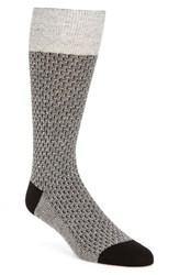 Cole Haan Men's Dog Bone Texture Crew Socks