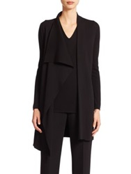 Akris Architecture Collection Long Wool Cardigan Black