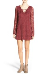 Junior Women's Socialite Lace Shift Dress