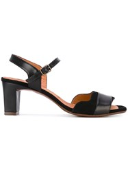 Chie Mihara Katis Buckled Sandals Women Leather Rubber 37 Black