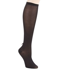 Kate Spade Bow Back Knee Hi Socks Black
