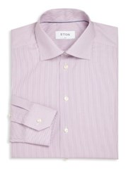Eton Of Sweden Slim Fit Micro Striped Shirt Purple