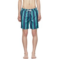 Onia Blue Marco Stripe The Charles 7 Swim Shorts