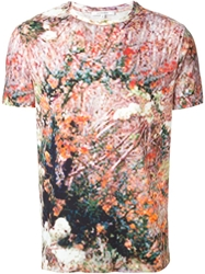 Carven Abstract Print T Shirt Brown