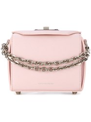 Alexander Mcqueen Box Bag 16 Leather Pink Purple