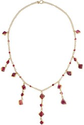 Pippa Small 18 Karat Gold Spinel Necklace One Size