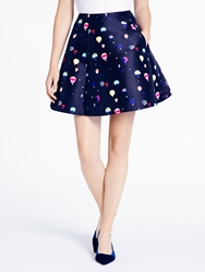 Kate Spade Balloon Party Lula Skirt Dark Rich Navy Multi