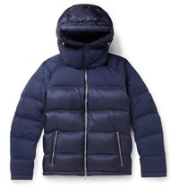 Orlebar Brown Quited Shell Hooded Down Jacket Navy