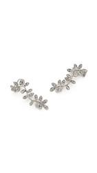 Ca And Lou Anne Lobo Earrings Silver Clear