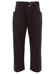 Proenza Schouler Paperbag High Rise Wool Twill Trousers Black