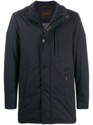 Moorer Hooded Long Sleeved Jacket Blue