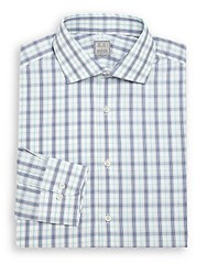 Ike Behar Regular Fit Cotton Long Sleeve Dress Shirt Navy