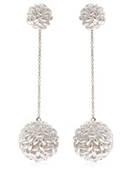 Bea Bongiasca Rice Is Life Double Sphere Earrings Silver