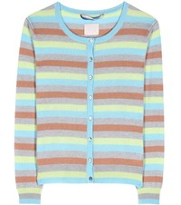 81 Hours Clyde Striped Cashmere Cardigan Multicoloured