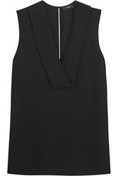 Theory Salvatill Silk Crepe Top Black