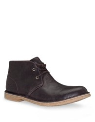 Ugg Mens Leighton Leather Desert Boots Chocolate Leather