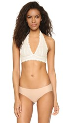 Free People Galloon Lace Halter Bra Ivory
