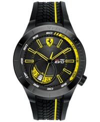Ferrari Men's Red Rev Evo Black Silicone Strap Watch 46Mm 0830340
