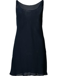 Peter Cohen Long Round Neck Tank Blue