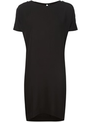Barbara I Gongini Open Back T Shirt Dress Black