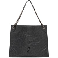 Saint Laurent Grey Large Niki Shopping Tote