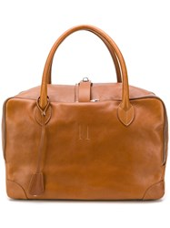 Golden Goose Deluxe Brand Equipage Luggage Tote Brown
