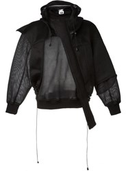 Christopher Shannon Structured Mesh Hoodie Black